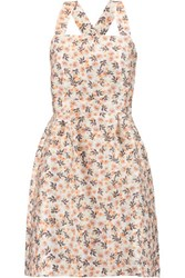 Mother Of Pearl Alice Floral Print Cotton Blend Mini Dress Peach