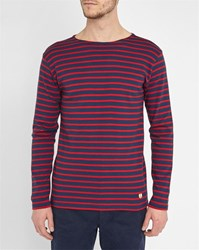 Armor Lux Navy Red Classic Sailor Stripe Top