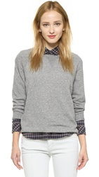Current Elliott The Oversized Sweatshirt Heather Grey