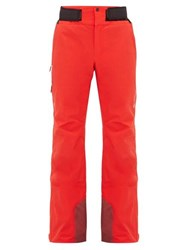 Goldwin Bliss Contrast Panel Ski Trousers Red
