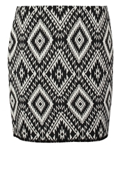 Opus Ravenna Mosaic Mini Skirt Black