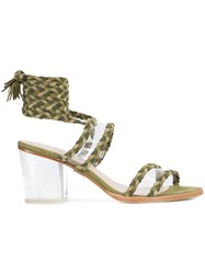 Ritch Erani Nyfc Velvet Sandals Green