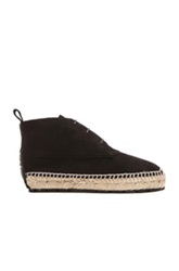 Balenciaga Espadrille Suede Ankle Boots In Black