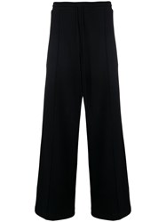 Lost And Found Rooms Wide Leg Side Stripe Joggers Black