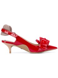 N 21 No21 Buckle Detail Kitten Heels Red