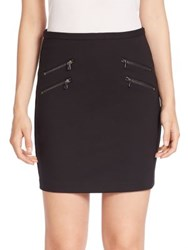 Paige Edgemont Zip Back Stretch Jersey Mini Skirt Black