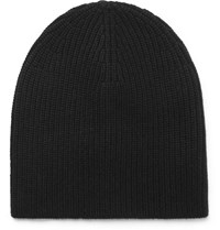 Rag And Bone Kaden Ribbed Cashmere Beanie Black