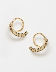 Pieces Tivona Snake Hoop Earrings Gold