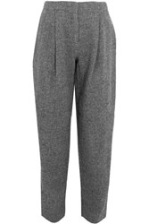 Acne Studios Selah Wool Tweed Pants Gray
