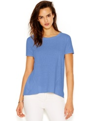 Rachel Rachel Roy Short Sleeve Split Back Blouse Cornflower