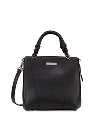 Charles Jourdan Nydia Laser Cut Leather Satchel Bag Black