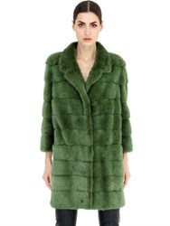 Simonetta Ravizza Single Breasted Mink Fur Coat