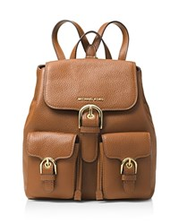 Michael Michael Kors Cooper Flap Small Leather Backpack Luggage Gold
