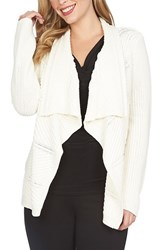 Women's Chaus Mixed Stitch Open Front Cardigan