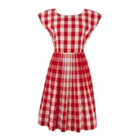 Lowie Red Gingham Prom Dress