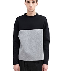 Marni Bicolour Crew Neck Sweater Black
