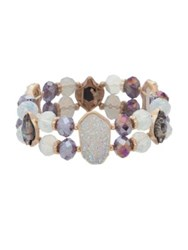 Lonna And Lilly Faceted Glass Bracelet Purple