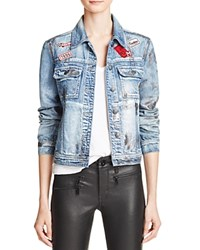Hidden Foil Coated Patchwork Denim Jacket