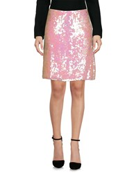 Haute Knee Length Skirts Pink