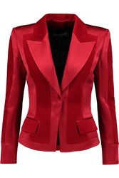 Balmain Cotton Velvet And Silk Satin Jacket Red