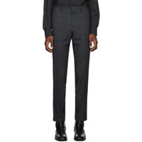 Tiger Of Sweden Navy Wool Check Todd Trousers