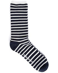 Norse Projects Blue Ecru Bjarki Striped Classic Normandie Socks