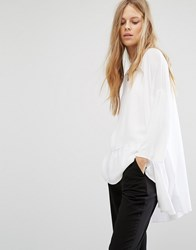 Selected Wille Open Knit Cardigan Snow White