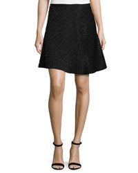 Halston Bead Embellished A Line Skirt Black