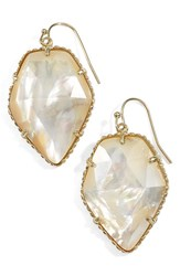 Kendra Scott Women's 'Corley' Faceted Stone Drop Earrings Gold Ivory Mop