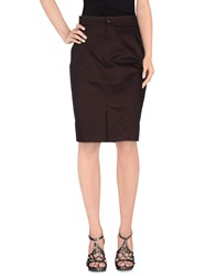 Fendi Skirts Knee Length Skirts Women Deep Purple