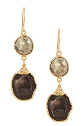 Janna Conner Yona Pyrite And Geode Drop Earrings No Color