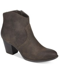 American Rag Rylie Western Ankle Booties Created For Macy's Women's Shoes Mocha