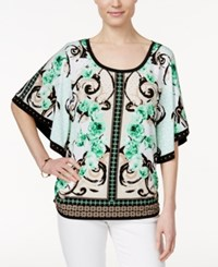 Jm Collection Studded Printed Top Only At Macy's Green White