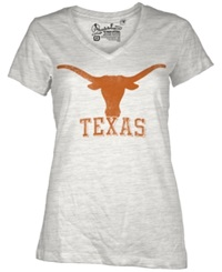 Royce Apparel Inc Women's Short Sleeve Texas Longhorns T Shirt White