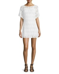 Miguelina Grace Lace Coverup Dress Pure White