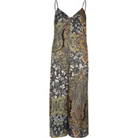River Island Womens Green Paisley Print Culotte Jumpsuit
