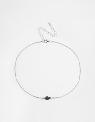 Asos Mini Skull Choker Necklace Black