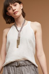 Anthropologie Sleeveless Swing Top Ivory