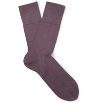Falke Tiago Stretch Cotton Blend Socks Purple
