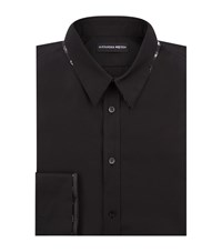 Alexander Mcqueen Silk Cross Undercollar Shirt Male Black