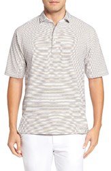 Bobby Jones Men's Liquid Cotton Fine Stripe Polo White