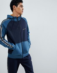 Nicce London Bronco Hoodie With Side Stripes In Blue