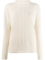 A.P.C. Ribbed Knit Jumper White