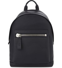 Tom Ford Buckly Leather Backpack Navy Silver