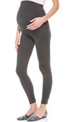 David Lerner Maternity Leggings Charcoal