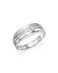 Bloomingdale's Diamond Five Stone Men's Band In 14K White Gold 0.25 Ct. T.W. 100 Exclusive