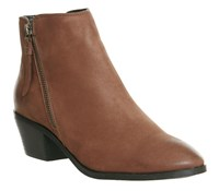 Office Austin Side Zip Ankle Boots Tan