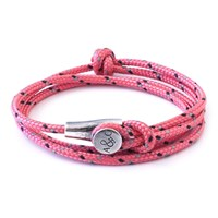 Anchor And Crew All Pink Dundee Rope Bracelet Pink Purple