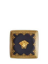 Versace I Love Baroque Square Valet Tray Black Gold