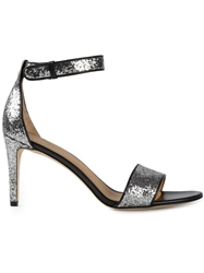 Marc By Marc Jacobs Glitter Ankle Strap Sandals Grey